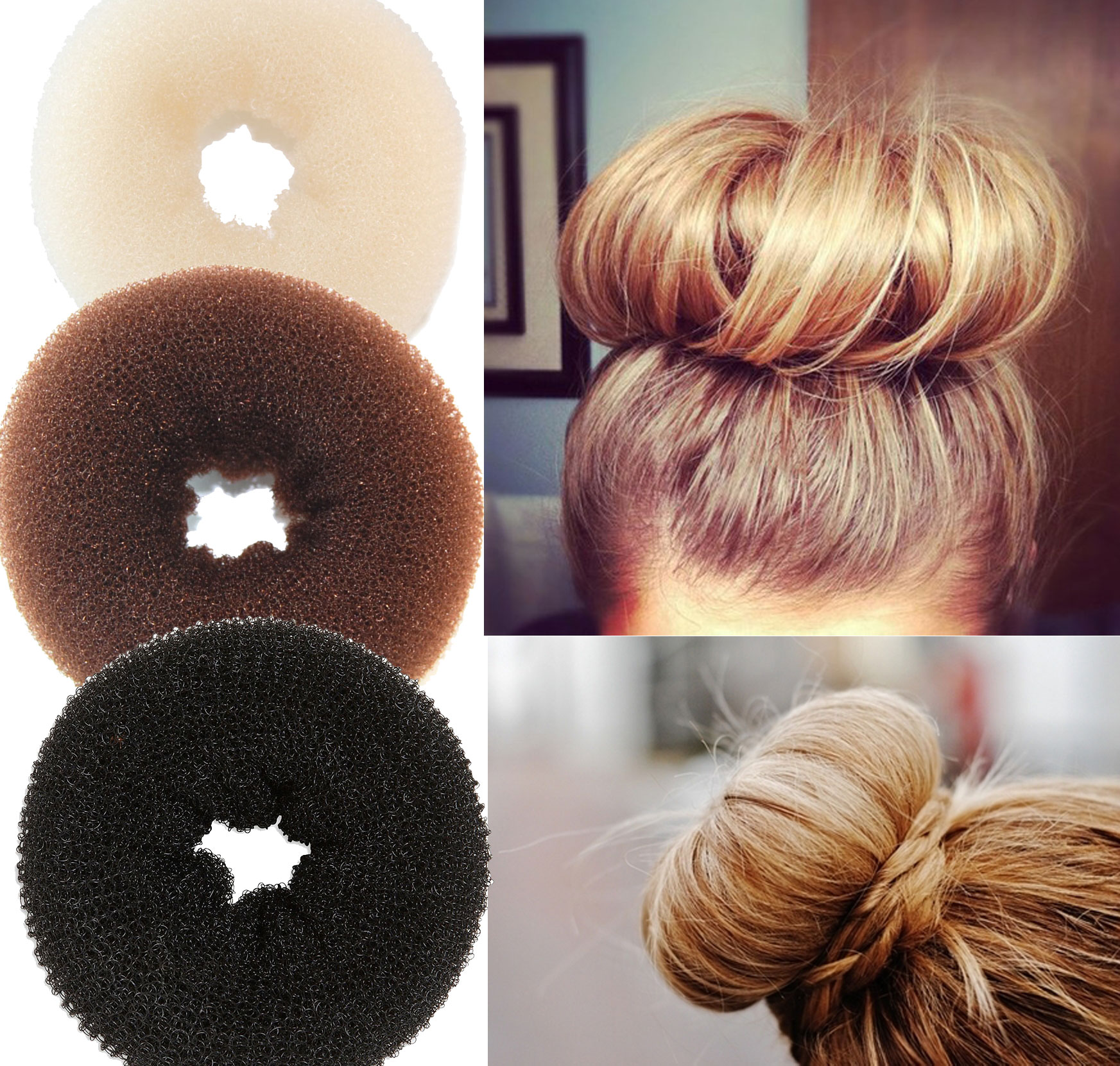 Find and save ideas about Donut bun on Pinterest. | See more ideas about Hair donut styles, The bun and Doughnut bun.